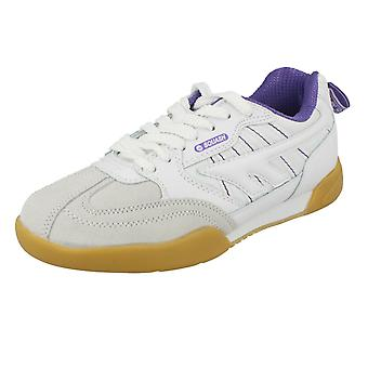 Ladies Hi-Tec Sports Trainers Squash Classic Womens - White/Violet Synthetic - UK Size 4 - EU Size 37 - US Size 6
