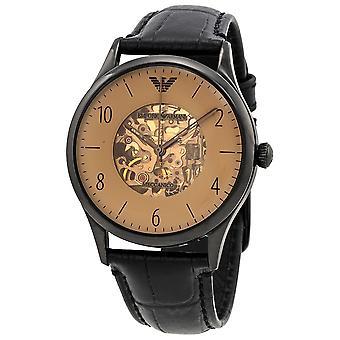 Emporio Armani Ar1923 Beige Dial Men's Leather Watch