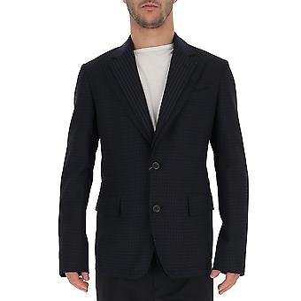 Alexander Mcqueen 545352qmr034166 Men's Blue Cotton Blazer