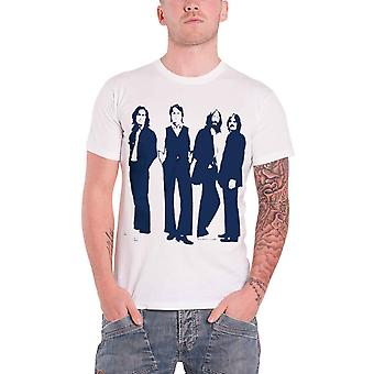 Beatles T Shirt ständiga silhuetter ikoniska logotypen officiella Mens nya vita