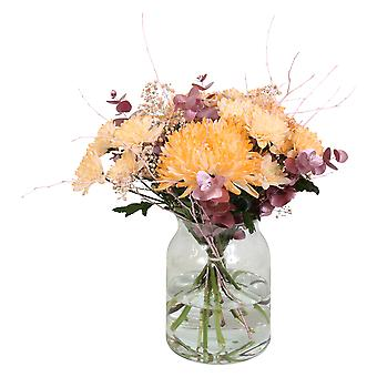Bouquet from Botanicly – Bunch of flowers - peach – Height: 60 cm, 15 branches