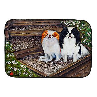 Carolines Treasures  MH1047DDM Japanese Chin Daddy's Girls Dish Drying Mat