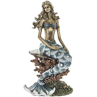 Exotic Art Colourful mermaid figurine ornament home decoration
