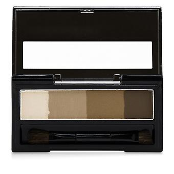 KISS ME Heavy Rotation Waterproof Powder Eyebrow And 3D Nose - # 01 Light Brown 3.5g/0.12oz