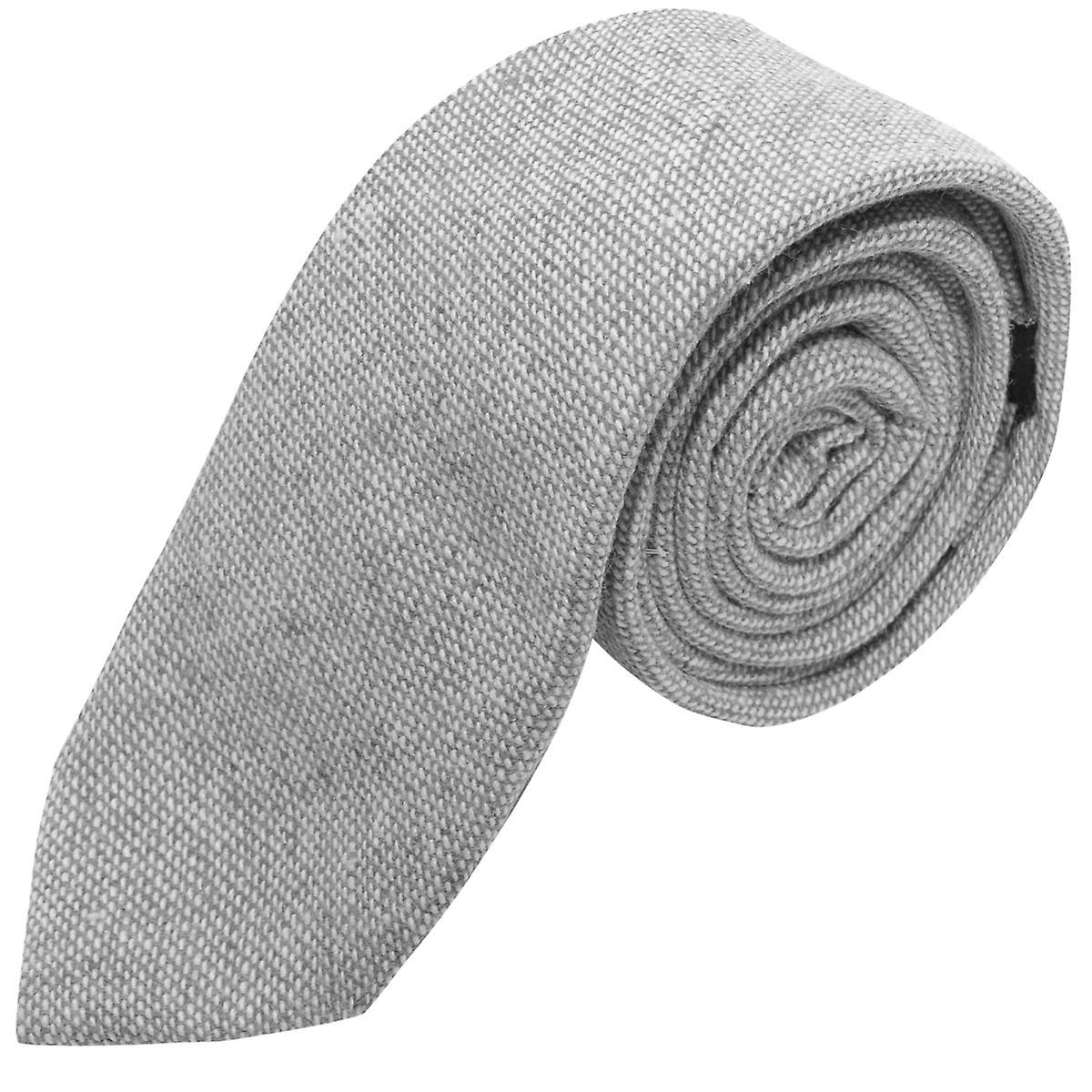 Highland Weave Stonewashed Light Grey Tie