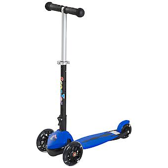HOMCOM Foldable Children Kick Scooter 3 Flashing Wheels Street Toy Age 3-5 Y Adjustable Height Kids Gift