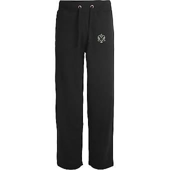 1st The Queens Dragoon Guards - Licensed British Army Embroidered Open Hem Sweatpants / Jogging Bottoms