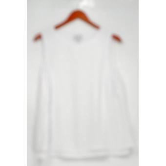 Joan Rivers Classics coleção mulheres ' s Top XS camadas crepe branco A304739