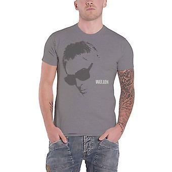 Paul Weller T Shirt Sunglasses Portrait Logo new Official Mens Charcoal Grey
