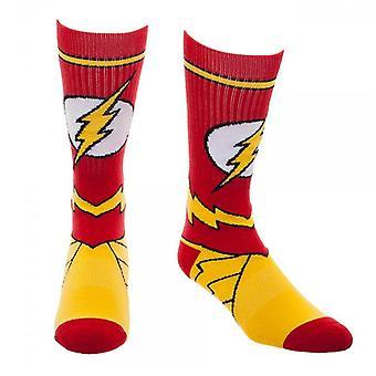 Flash Costume Crew Socks