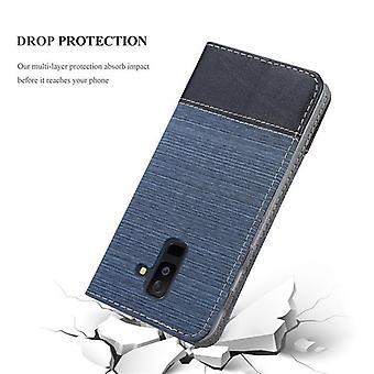 Cadorabo Hülle für Samsung Galaxy A6 PLUS 2018 hülle case cover - Handyhülle mit Magnetverschluss, Standfunktion und Kartenfach – Case Cover Schutzhülle Etui Tasche Book Klapp Style