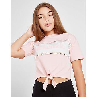 Nuove McKenzie Girls' Alma Knot T-Shirt Junior Pink