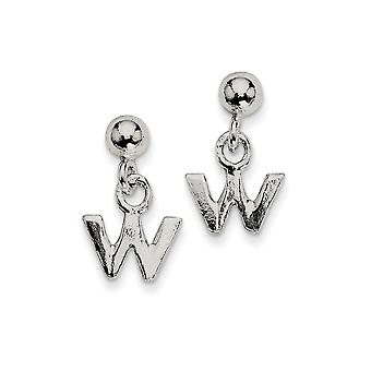 925 Sterling Silver Polished W Dangle Post Earrings Jewelry Gifts for Women - .7 Grams