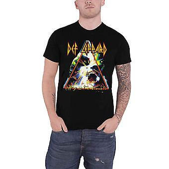 Def Leppard T Shirt Hysteria Triangle Band Logo new mens Official black