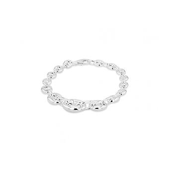 Eternity Sterling Silver damer 7 1/2 ' ' heavy ' Gucci ' Style armband
