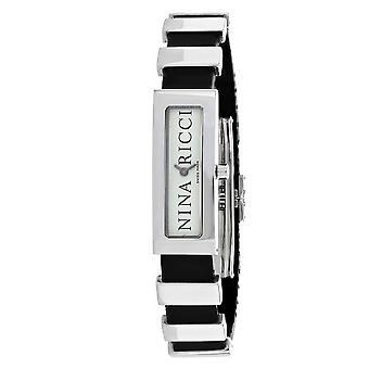 Nina Ricci Damen's klassische weiße Zifferblatt Uhr - 66200RW