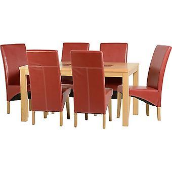 Wexford 59-quot; Ensemble de repas - G1 - Flacage de chêne/Pu rouge