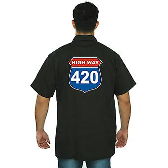 Męski pracy mechanik koszula autostrady 420