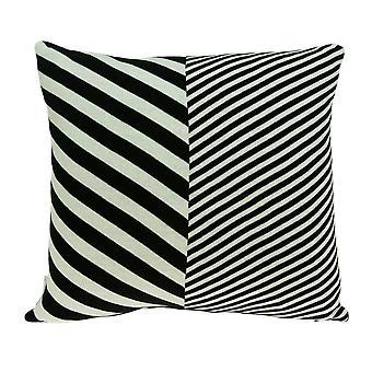 Moderne firkantet sort og hvid accent pude cover