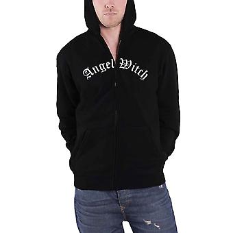 Angel Witch Hoodie Baphomet Band Logo new Official Mens Black Zipped