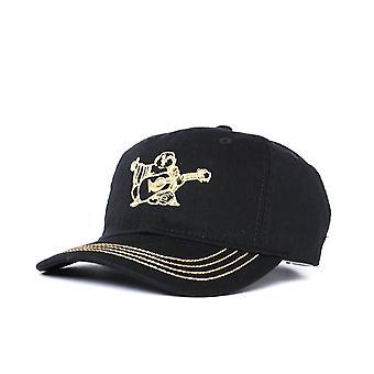 True Religion Contrast Gold Buddha Black Cap