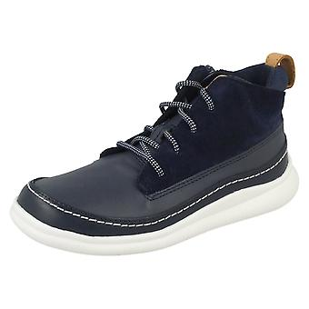 Boys Clarks Casual Zip Up Tobillo Botas Cloud Air