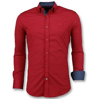 Shirts - Slim Fit - Red