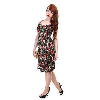 Collectif Vintage Women's Leelu Sarong Lanai Hibiscus Print Dress UK 10