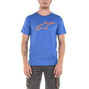 Alpinestars Ageless Short Sleeve T-Shirt in Royal Blue/Red