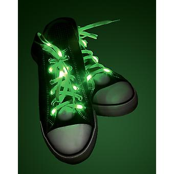 Light Up laces green green, made of polyester, battery operated.