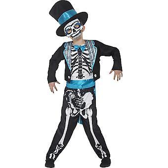 Day of the Dead Groom Costume, Medium Age 7-9