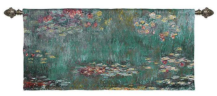 Claude monet - water lily wall hanging by signare tapestry / 148cm x 69cm / wm-cm-wl