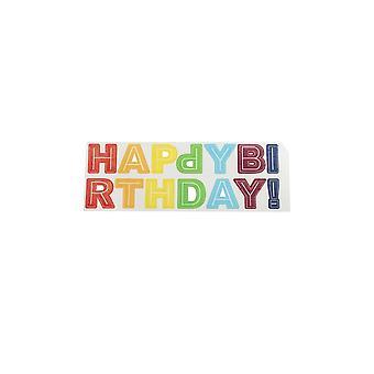 Cake Star Happy Birthday Letter Wafer Decorations - Bright