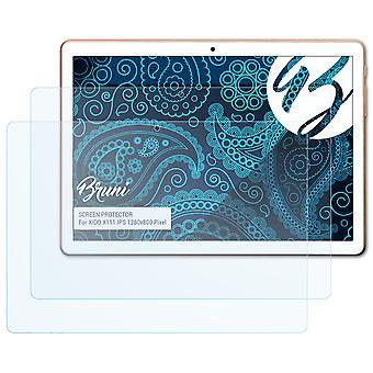 Bruni 2x Screen Protector kompatibel med XIDO X111 IPS 1280x800 Pixel Beskyttende Film