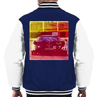 Motorsport Images Ferrari 488 GTE Rear View Men's Varsity Jacket