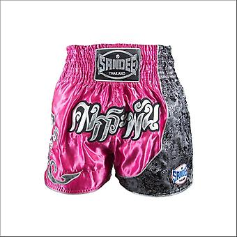 Sandee unbreakable thai shorts - pink silver