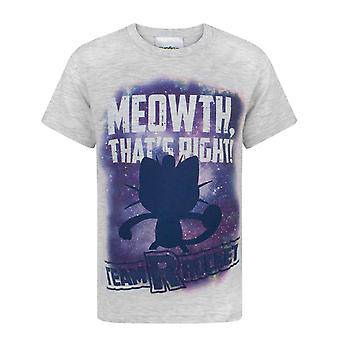 Pokemon Meowth That's Right Grey Boy's Kids T-Shirt
