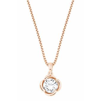 s.Oliver Jewel womens necklace necklace silver rose gold zirconia flower 2027674