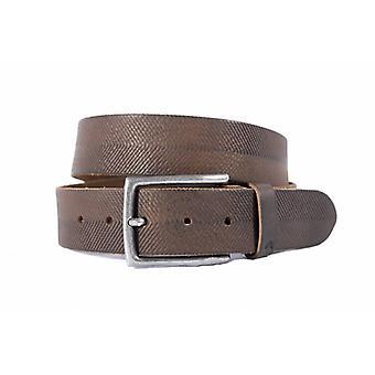 Tufft mörkbrunt bälte med unik Dessin