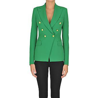 Tagliatore Ezgl110018 Women's Green Polyester Blazer