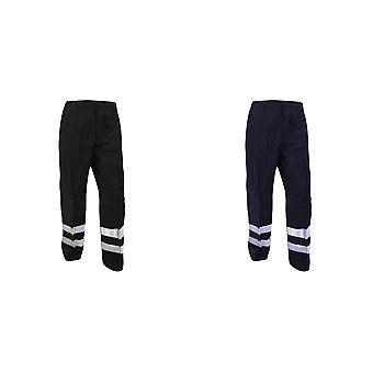 Yoko Mens Reflective Ballistic Trousers (Regular) / Hi Vis Workwear