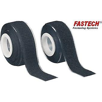 FASTECH® 919-330 Hook-and-loop tape stick-on Hook and loop pad (L x W) 2000 mm x 25 mm Black 1 Pair