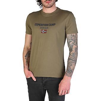 Napapijri Original Men Spring/Summer T-Shirt - Green Color 34662