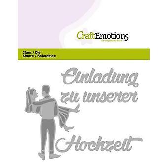 CraftEmotions يموت النص -- Einladung Hochzeit (DE) بطاقة 11x9cm