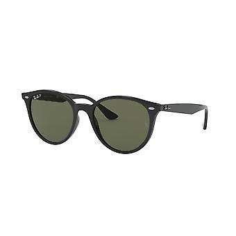 راي بان RB4305 601/9A الأسود / النظارات الشمسية الخضراء القطبية