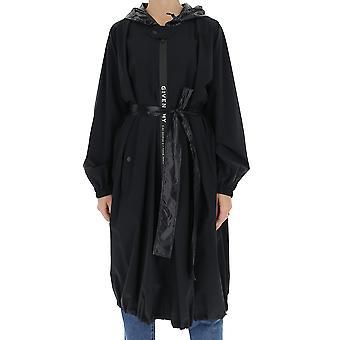 Givenchy Bw009212j3001 Damen's Schwarz Nylon Mantel