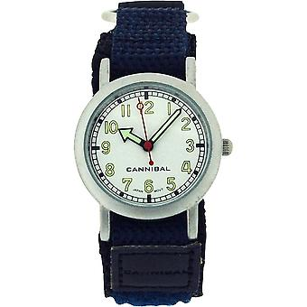 Cannibal Active Boys Navy Blue-Black Easy Fasten Strap Children's Watch CK002-5N