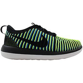 Nike Roshe Två Flyknit Svart/Svart-Foto Blå 844929-003 Kvinnor's