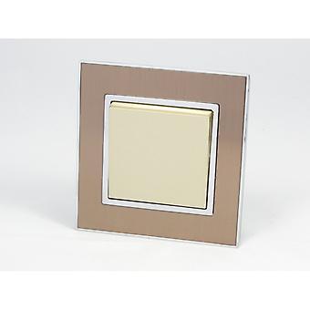 Ich LumoS AS Luxus Gold Satin Metall Einzelbild 1 Gang 2 Weg Rocker Lichtschalter