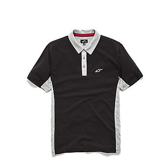Alpinestars Championship Polo Shirt in Black / Grey Heather